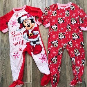 Disney Minnie Mouse Holiday Pajamas 3T